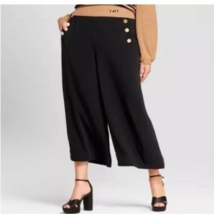 Who What Wear Wide Leg Cropped Pants Size 26W
